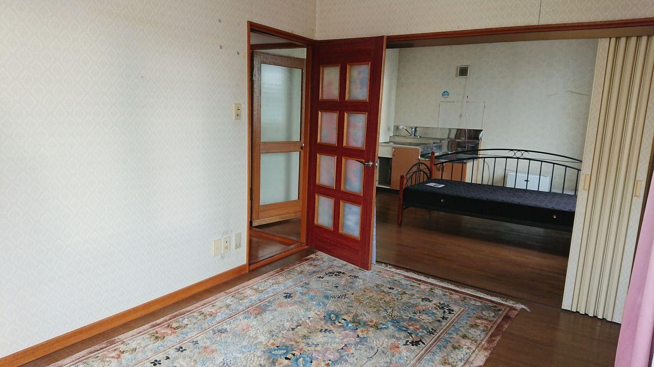 2階洋室はアコーディオンカーテンをあければ一つの部屋として利用可
