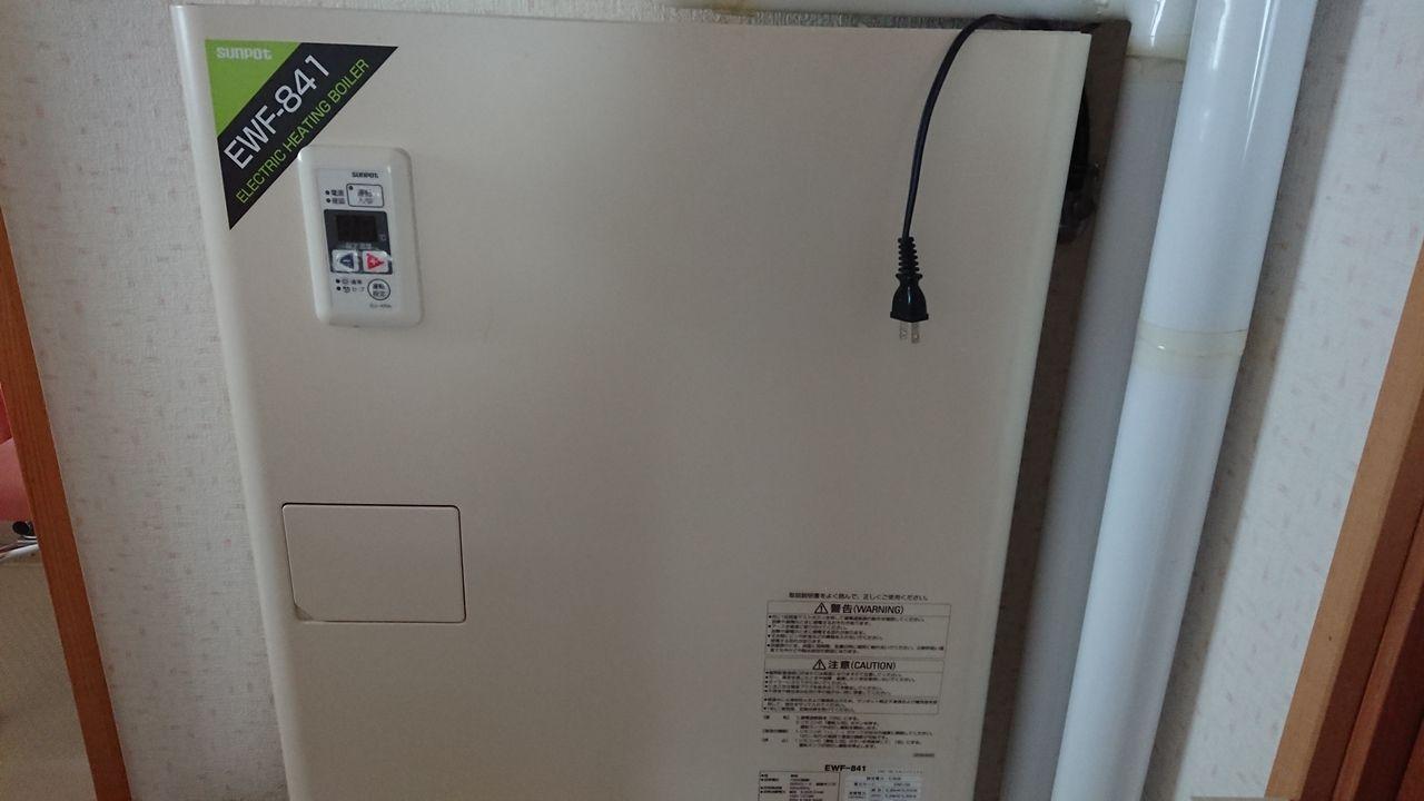 1階のセントラルヒーティングは電気ボイラーと灯油ボイラーどちらでも使用可能