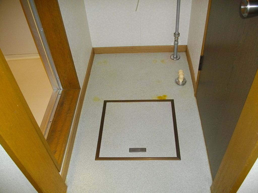 脱衣場兼洗濯機置き場です。洗濯機の大きさはご確認下さい!
