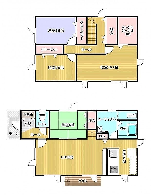 恵庭市和光町、2階建ての4lDK一戸建て!