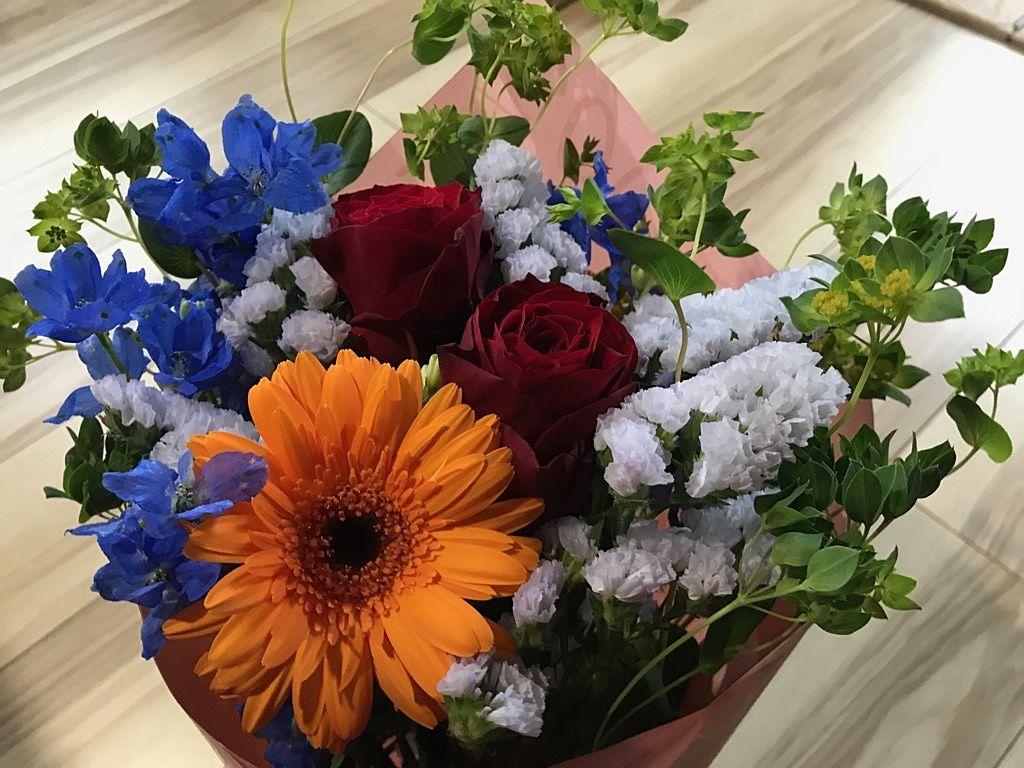 お花を買いました